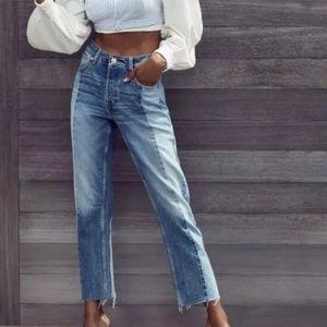 BDG Jessye Two Tone High Waist Jeans